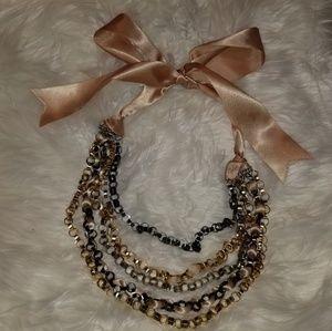 Ribbon-tie Necklace